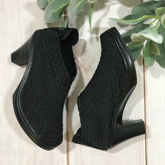 1800ad3d1fb9 bernie mev. Shoes - Bernie Mev Chesca Black Woven Ankle Booties